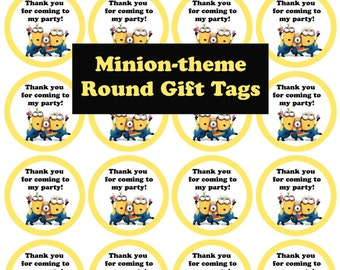 Printable Gift and Favor Tags - Minion theme