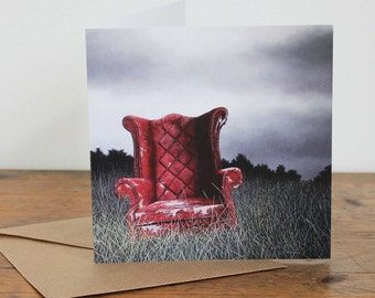 A Regal Past - Fine Art card - Chesterfield armchair