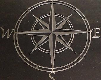 "Nautical Compass Rose 24"""