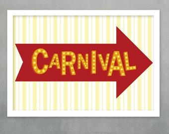Carnival Printable Sign  - Kids' Printables