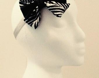 Black & White Zebra Print Headband