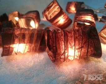 Brown Japanese Asia lantern String lights for Party, Wedding , Bedroom , Garden&Decorative lighting.