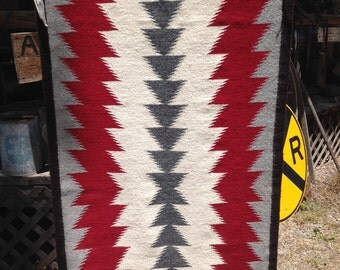 Four color Navajo Rug 49 x26