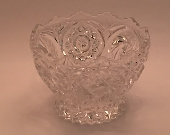 Vintage Cut Glass Decorative Bowl from 1940's