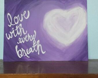 Love acrylic painting