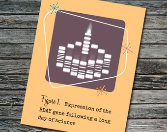 Birthday Gel Electrophoresis Cake Science Card | Student, Professor, Teacher, Scientist, Molecular Biologist