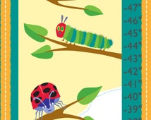 Hungry Caterpillar Canvas Growth Chart