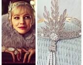 SALE! Great Gatsby headpiece, headband, downtown abbey, bridal tiara, roaring 1920's, flapper headband