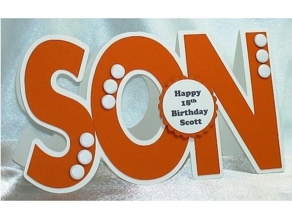 Son birthday card handmade personalised football team – Football Team Birthday Cards
