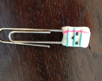 Kawaii Notebook Paper Paper Clip Charm