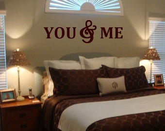 YOU& ME Wood Letters,Wall Décor-Painted Wood Letters