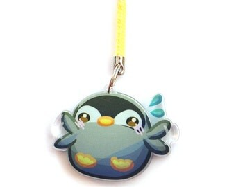 Doublesided 1.5 Inch Penguin Charm