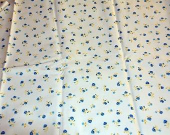 Floral Print Stretch Cotton Poplin