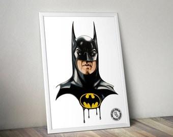 Batman - Illustrated Gicleé Print