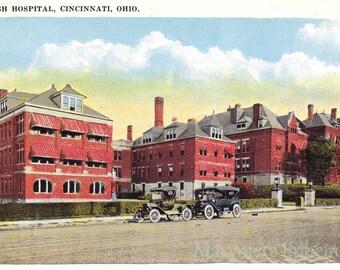 Jewish Hospital Cincinnati Ohio Postcard Vintage Antique