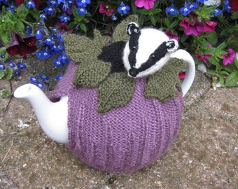 Badger Tea Cosy Knitting Pattern