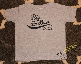 Big Brother Shirt, Big Brother Baseball Shirt, Brother Sibling Shirt, Big Brother T-Shirt, Sibling Shirt- order with or without year