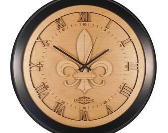 """Fleur De Lis Clock (16.75"""" dia.) X00008"""