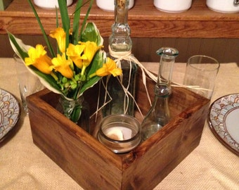 Rustic Wooden Box Centerpiece, Wedding Centerpiece, Wooden Box Centerpiece,