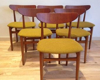 Vintage Teak Dining Chairs (6)