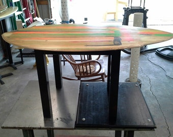 AWESOME Repurposed Skimboard End Table