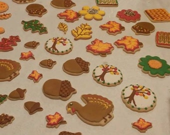 Thanksgiving and Fall Cookies