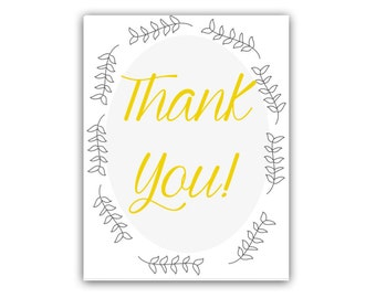 Thank You Card - Greeting Cards - Thank You