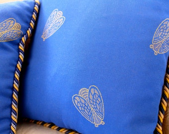 4 Vintage Silk French Pillows