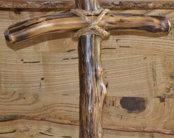 Handcrafted Log Cedar Cross
