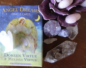 The Moon Spread for New Projects with Angel Dreams Oracle Cards