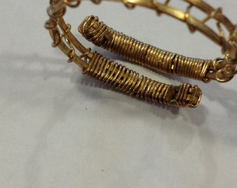 Gold Wire Adjustable Ring