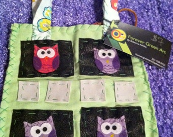 """Forever Green Art - Small """"Owl"""" Purse"""