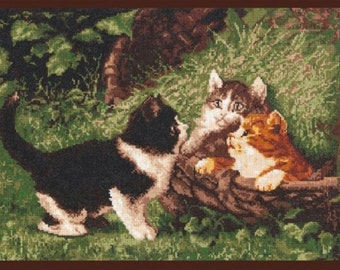 "Cross Stitch Kit by Palette - ""Kittens in a basket"""