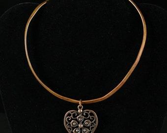 Copper Choker with Copper Pendant