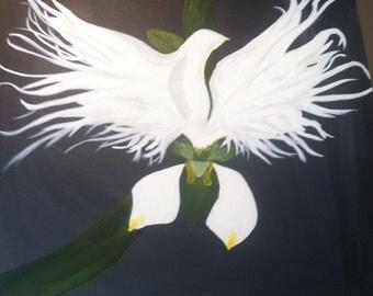 The White Egret Flower