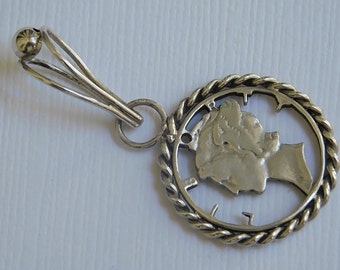 Handmade Sterling silver Coin Necklace Pendant