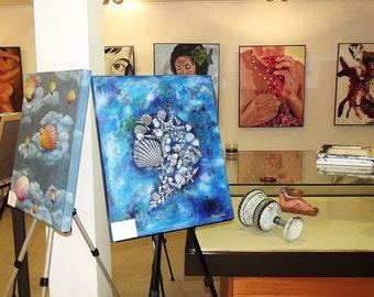 Sea shells. Contemporary art / decorative. Is, Paint