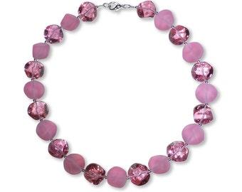 Murano Glass Necklace - Nerina Cerise