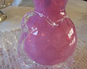Victorian Rubina Verde Ruffed Top Vase