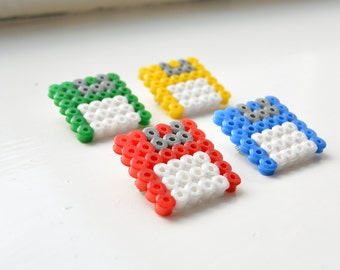 Hama Beads Colourful Floppy Disk Brooch