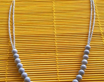 Lavender Beaded Necklace