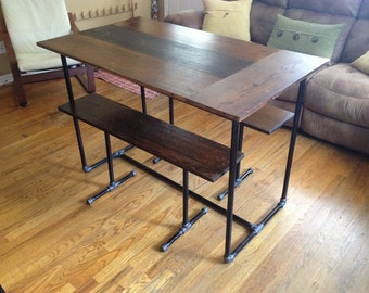 "The ""Leaf"" - kitchen table and benches"