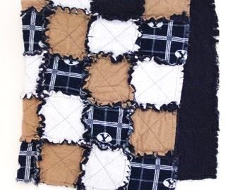 BYU Sports Flannel Rag Blanket