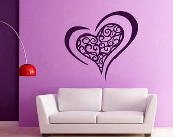 Funky Heart Wall Sticker