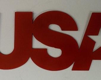 USA Plaque/metal art/plasma/CNC/patriotic/mancave