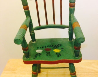 Vintage Wooden Doll Chair