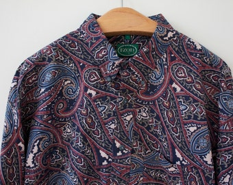 vintage IZOD paisley button down