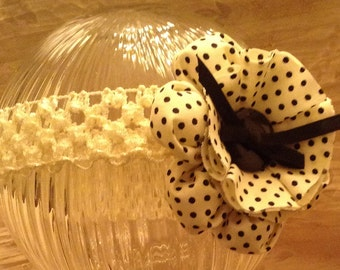 Beige And Black Polka Dot Headband