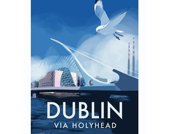 Dublin Poster-Samuel Beckett bridge