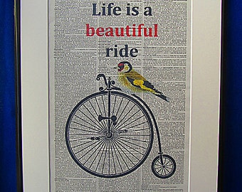Inspirational Quote Print No.10, Life Is A Beautiful Ride quote, quote prints, wall quotes, wall art quotes, wall decal, life quotes life